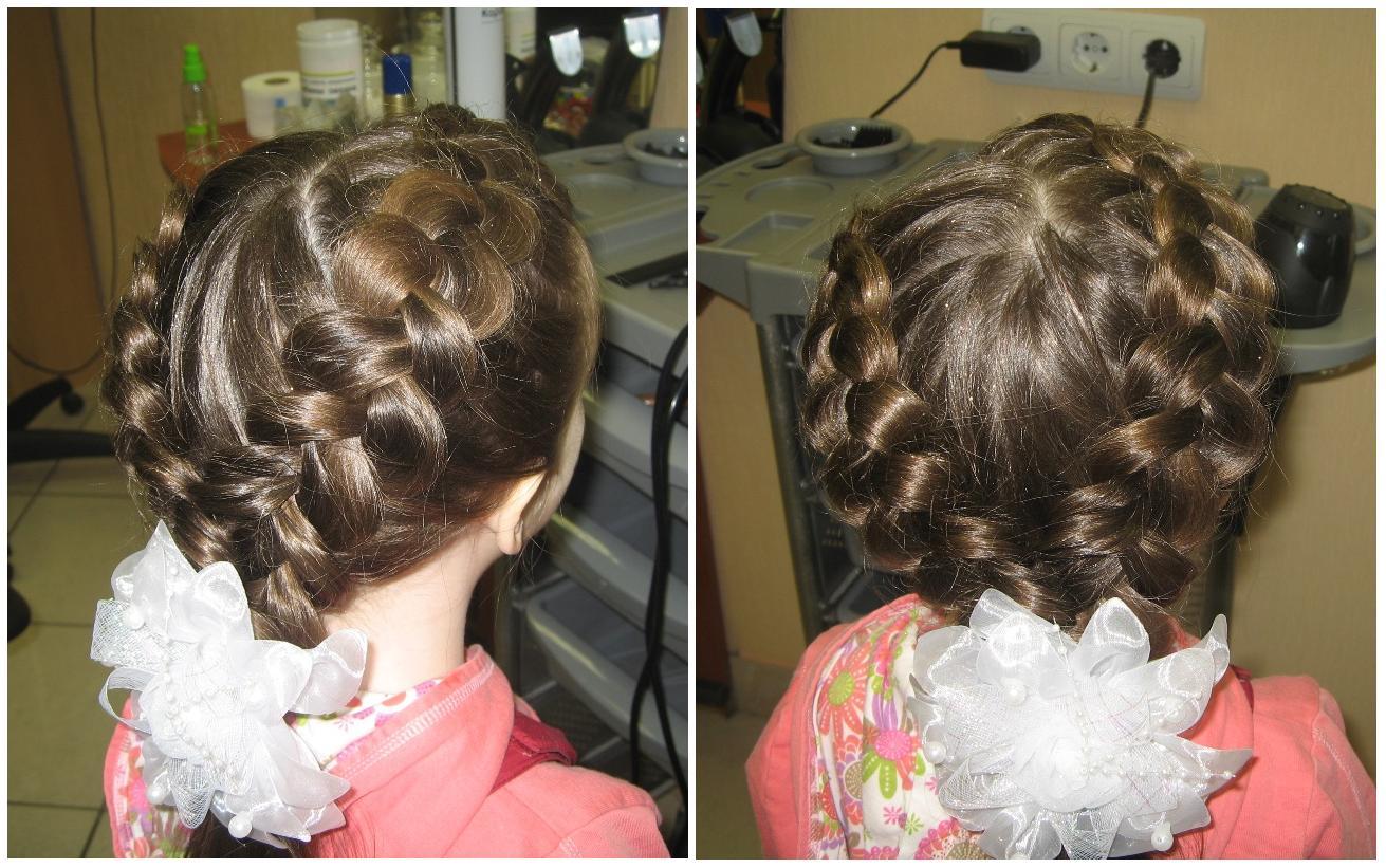Прически для деток на средние волосы