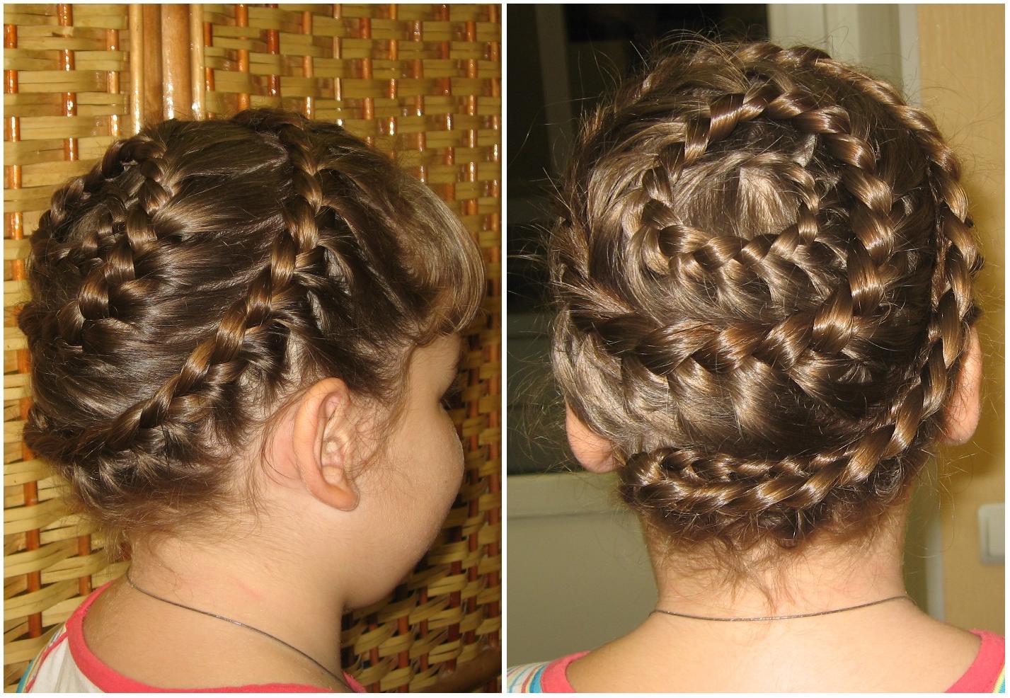 Красивые причёски на средние волосы ребёнку фото